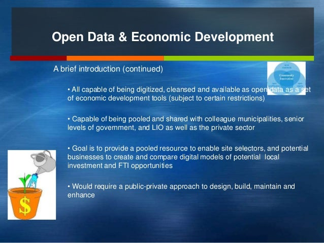 Harnessing Open Data as a Tool for Municipal Investment  Attraction Slide 3