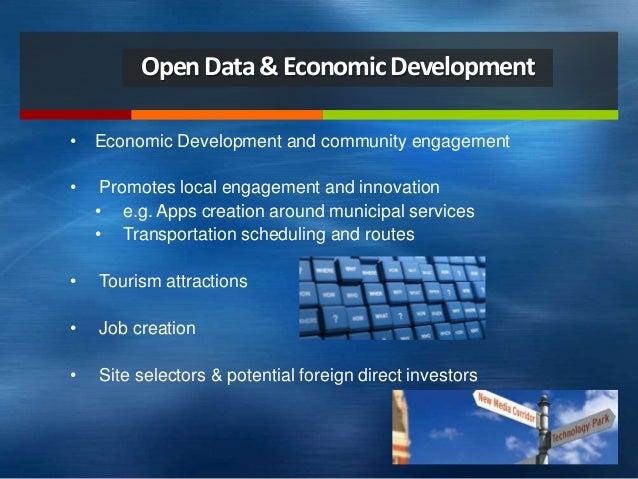 OpenData&EconomicDevelopment • Economic Development and community engagement • Promotes local engagement and innovation • ...