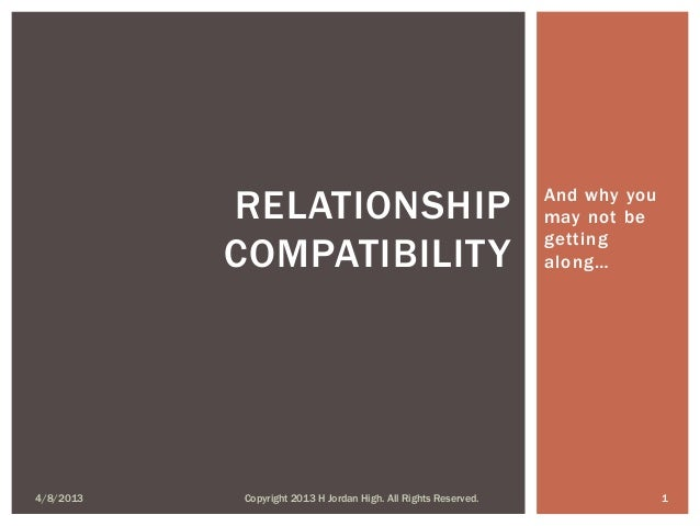 RELATIONSHIP                                         And why you                                                          ...
