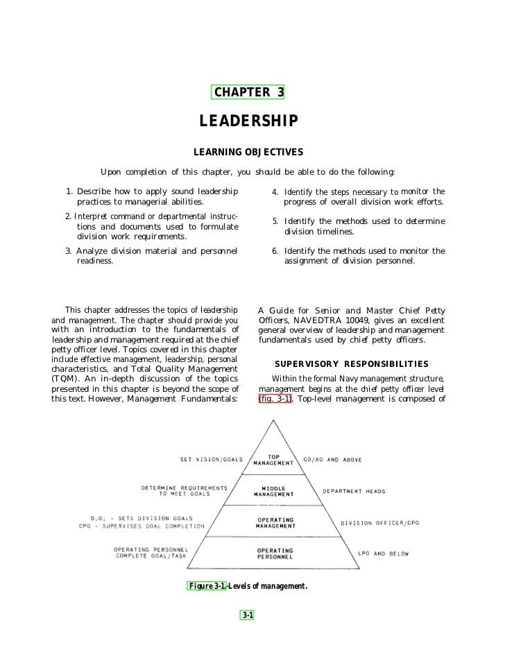 CHAPTER 3                                        LEADERSHIP                                      LEARNING OBJECTIVES      ...