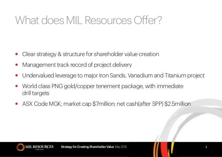 Mil Resources- Resources & Energy Symposium 2012