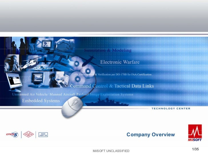 Company Overview                                     1/35MilSOFT UNCLASSIFIED