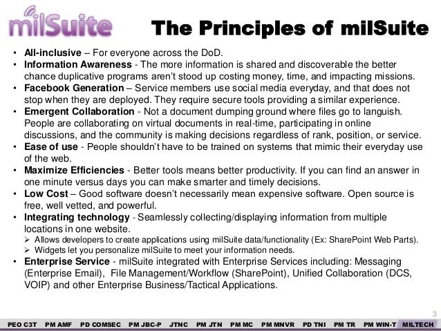Milsuite and open source for Milsuite