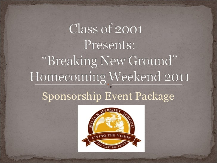 Sponsorship Event Package