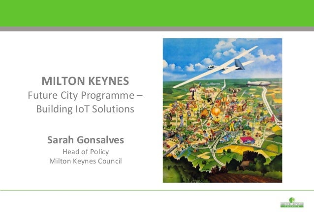 Sarah Gonsalves Head of Policy Milton Keynes Council MILTON KEYNES Future City Programme – Building IoT Solutions