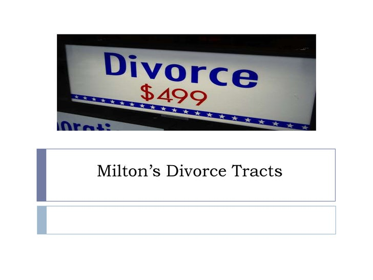 Milton's Divorce Tracts