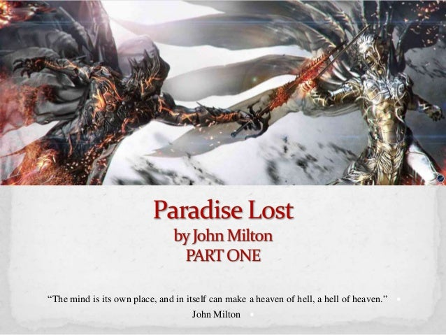 paradise lost book 9