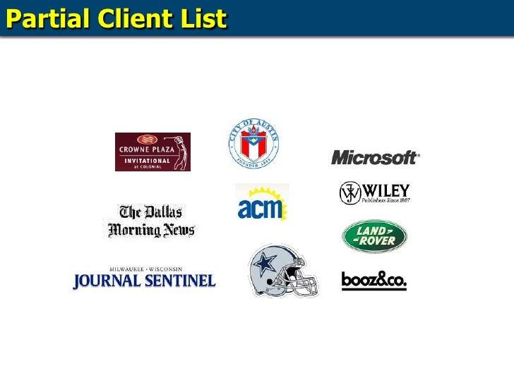 Partial Client List<br />