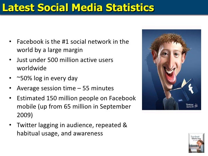 Latest Social Media Statistics<br />Facebook is the #1 social network in the world by a large margin<br />Just under 500 m...