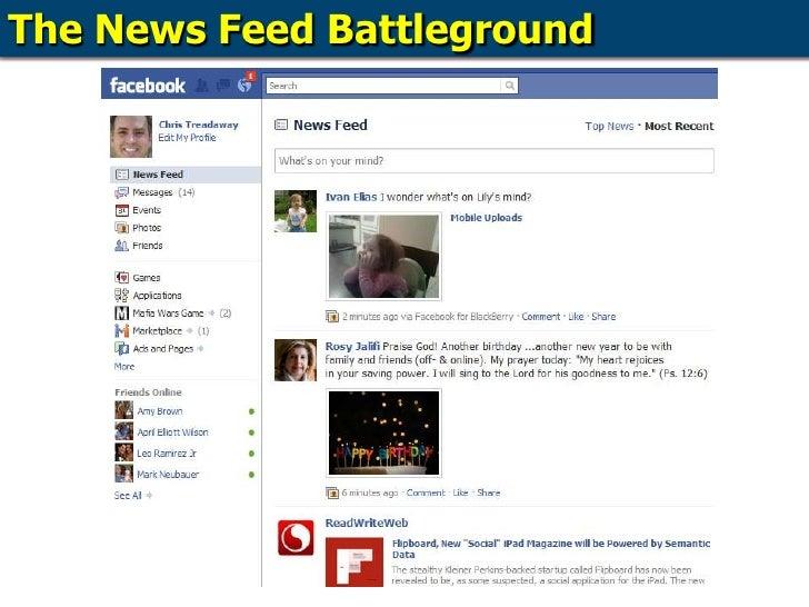 The News Feed Battleground<br />