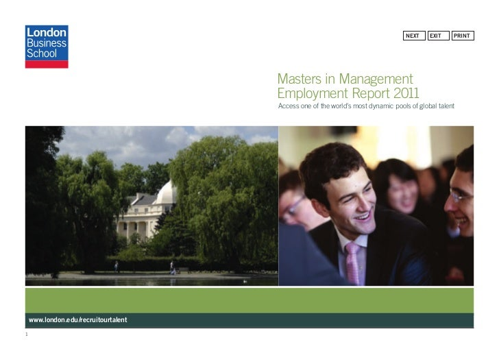 Mim 2011 Employment Report London Business School
