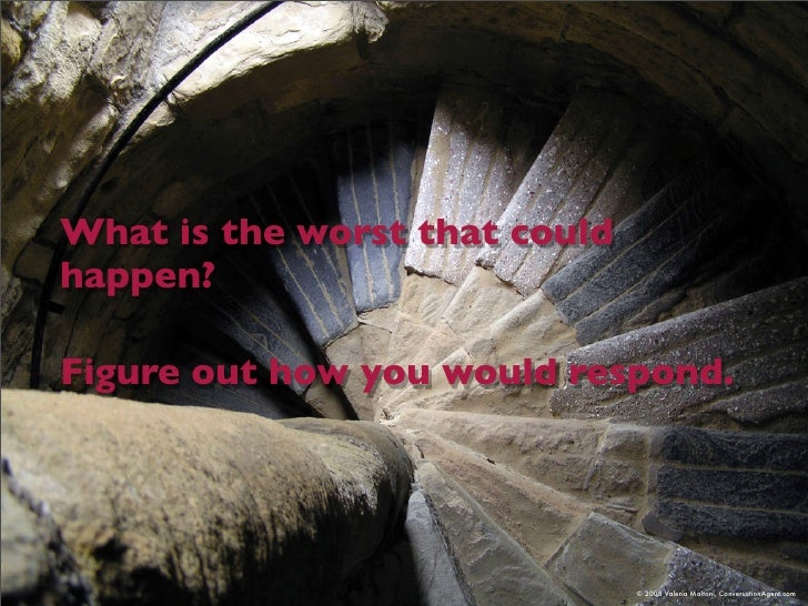 What is the worst that could happen?  Figure out how you would respond.                                    © 2008 Valeria ...