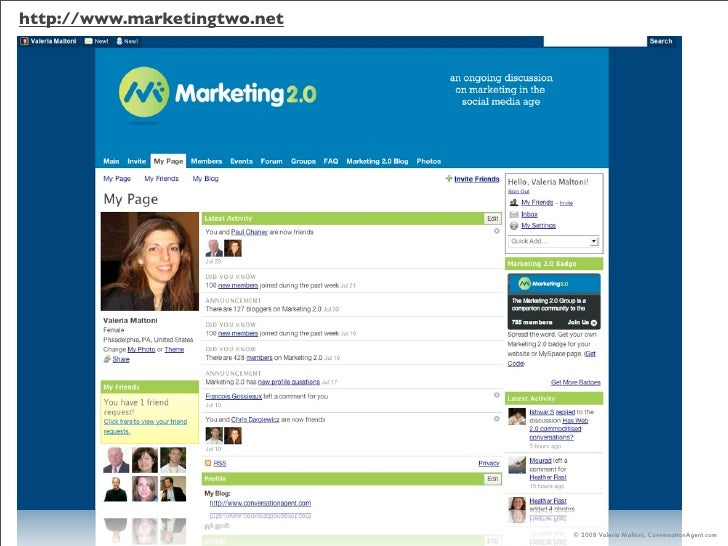 http://www.marketingtwo.net                                   © 2008 Valeria Maltoni, ConversationAgent.com