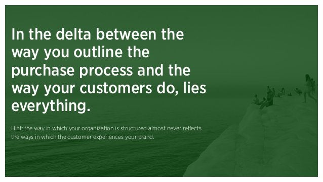 Theme 3: We need a multi- dimensional view of customer needs.