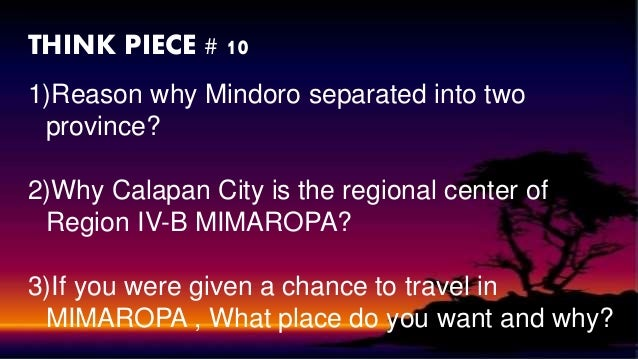 region iv-b mimaropa essay 1 republic of the philippines department of labor and employment regional tripartite wages and productivity board iv-b region iv-b (mimaropa) quezon city.