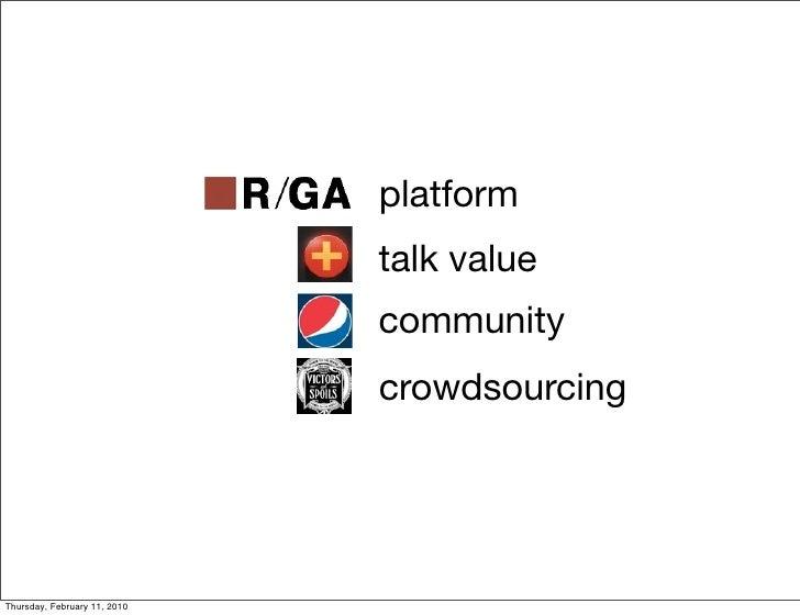 platform                               talk value                               community                               cr...