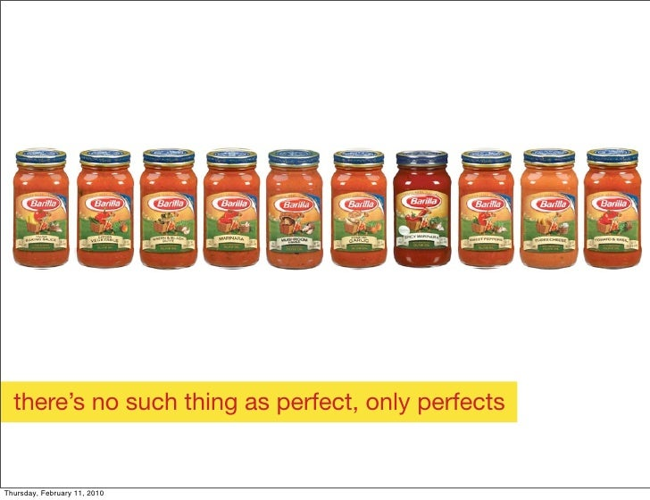 there's no such thing as perfect, only perfects   Thursday, February 11, 2010