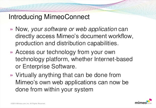 Mimeo connect api overview Slide 3