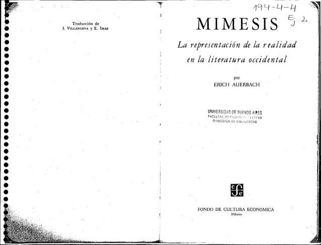 Mimesis auerbach