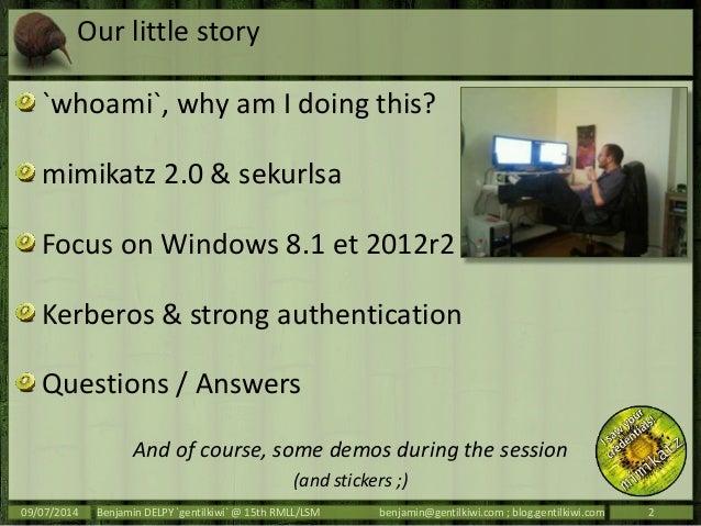 mimikatz @ rmll Slide 2