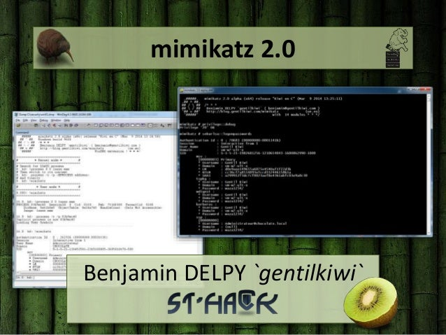 mimikatz 2.0 Benjamin DELPY `gentilkiwi`