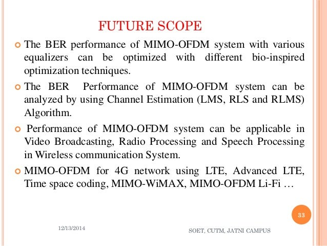 mimo ofdm Mimo-ofdm is a key technology for next-generation cellular communications (3gpp-lte, mobile wimax, imt-advanced) as well as wireless lan (ieee 80211a, ieee 80211n), wireless pan (mb-ofdm), and broadcasting (dab, dvb, dmb) in mimo-ofdm wireless communications with matlab®, the authors provide a comprehensive introduction to the theory and.