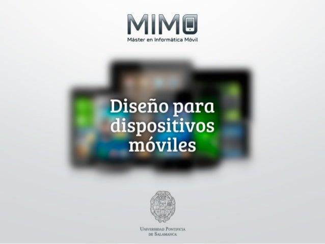 Iniciación al diseño para dispositivos móviles.
