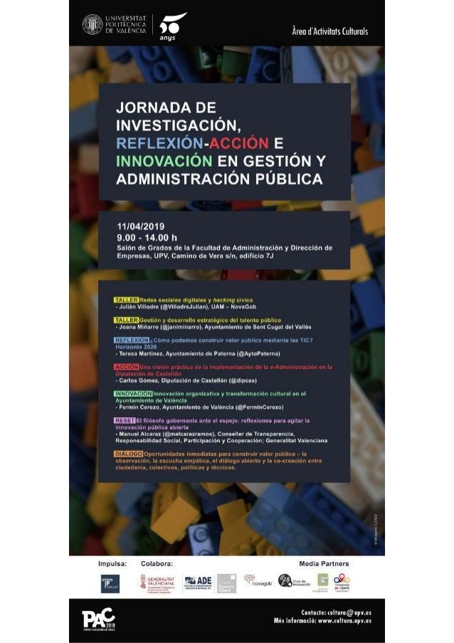 El viaje de las ideas #Innovaci�nP�blica Ferm�n Cerezo Servicio de Innovaci�n. Ayuntamiento de Valencia @FerminCerezo Lice...