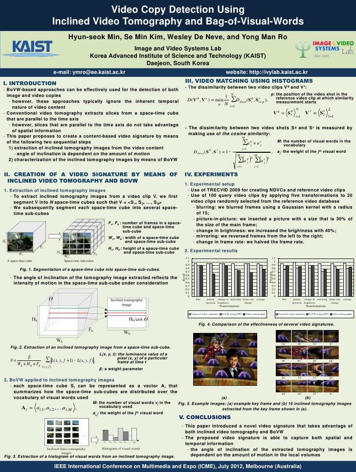 Video Copy Detection Using                                     Inclined Video Tomography and Bag-of-Visual-Words          ...