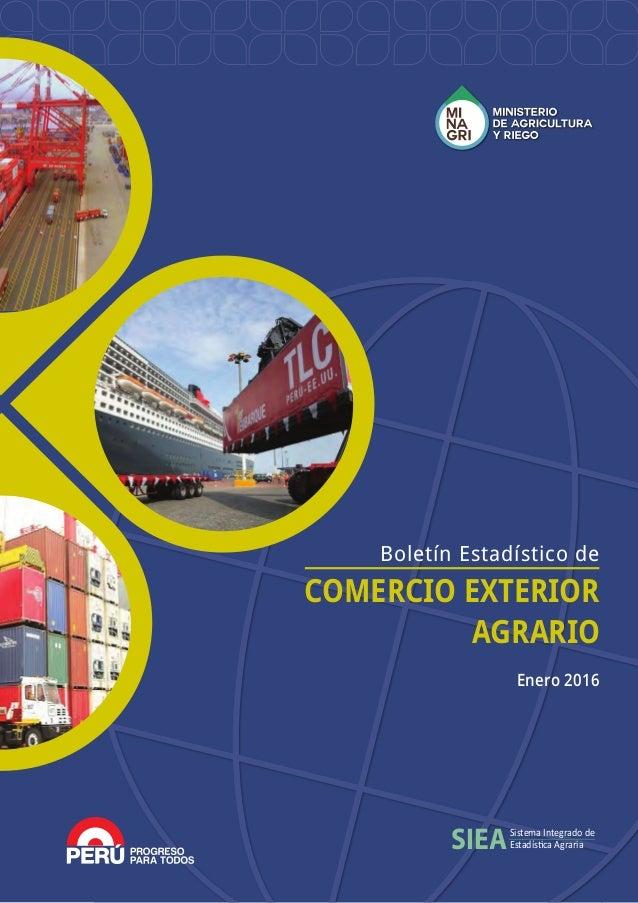 Minagri comercio exterior 2015 for Comercio exterior