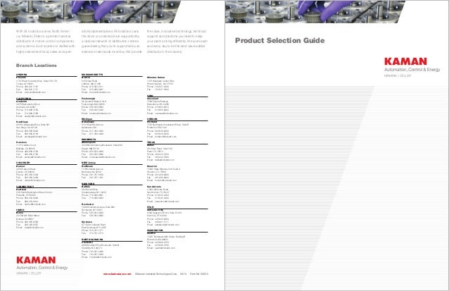 Product Selection Guide With 24 locations across North Ameri- ca, Minarik | Zeller is a premier national distributor of mo...