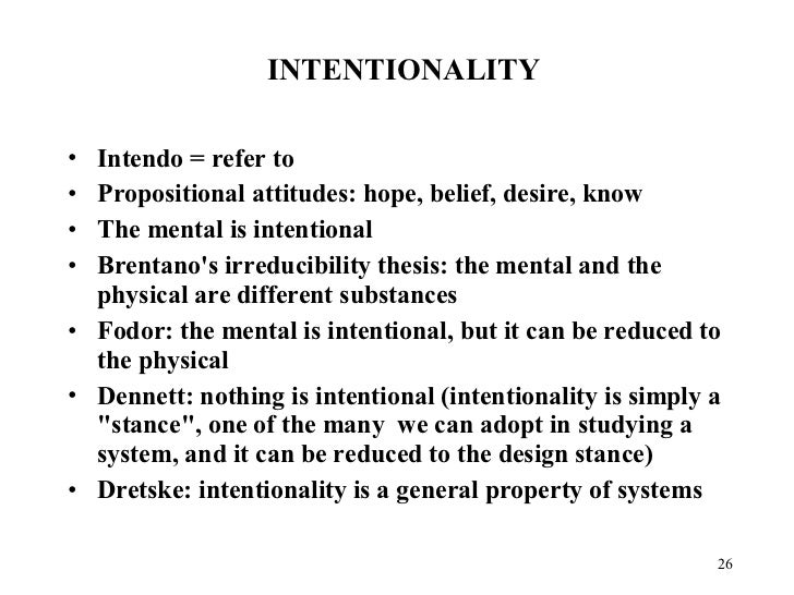 Brentano thesis intentionality