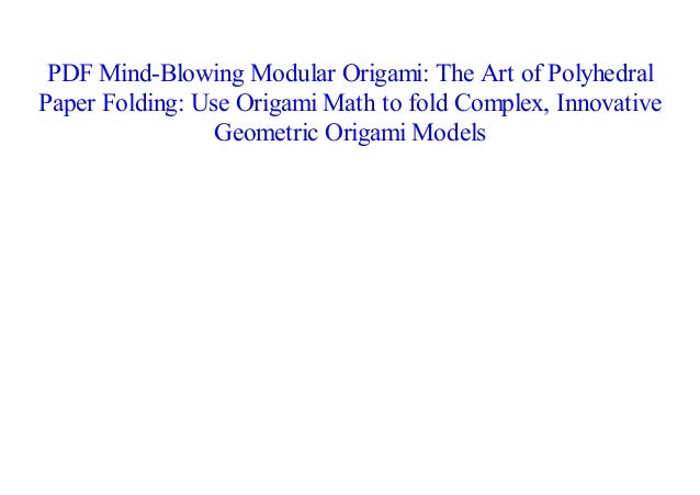 Book - Origami and Math: Simple to Complex | Origami and math ... | 451x638