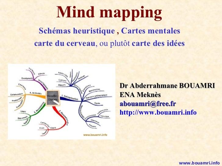 Mind mapping Schémas heuristique  ,  Cartes mentales carte du cerveau , ou plutôt  carte des idées Dr Abderrahmane BOUAMRI...