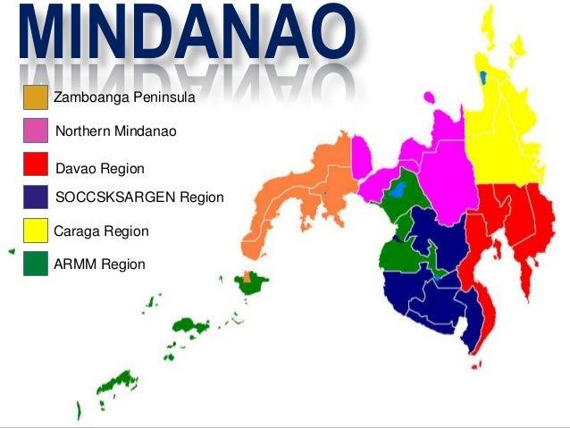 MINDANAO Zamboanga Peninsula Northern Mindanao Davao Region SOCCSKSARGEN Region Caraga Region ARMM Region