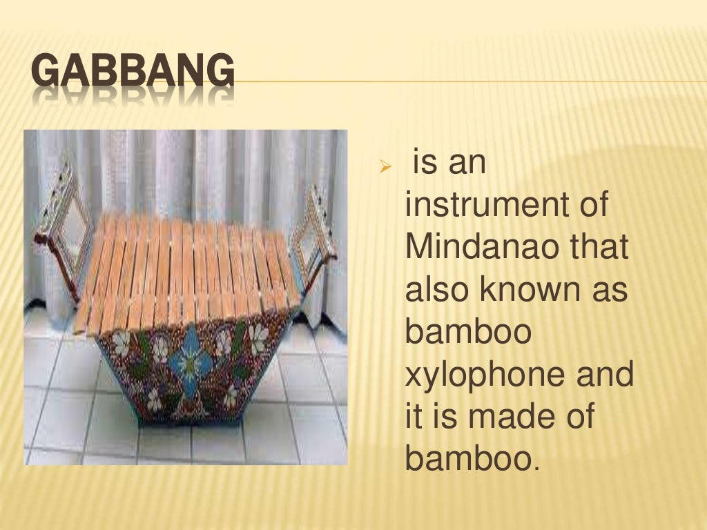 what is kudyapi instrument in mindanao Aerophone is any musical instrument which produces sound primarily by causing   20 kudyapi ethnic group: marano location: west central mindanao (muslim.