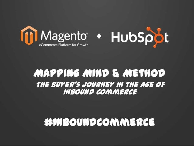 Mapping Mind & MethodThe Buyer's Journey in the Age ofInbound Commerce#InboundCommerce+