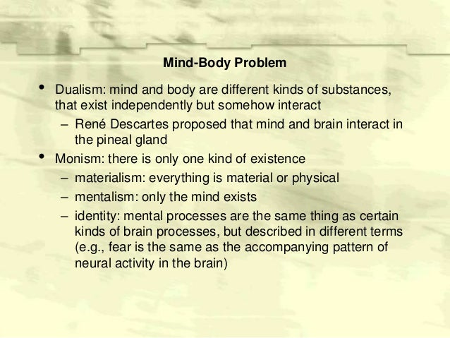 mind body problem essays Essays - largest database of quality sample essays and research papers on mind body problem.