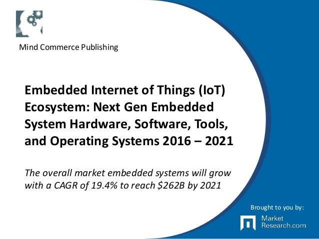 Embedded Internet of Things (IoT) Ecosystem: Next Gen Embedded System Hardware, Software, Tools, and Operating Systems 201...