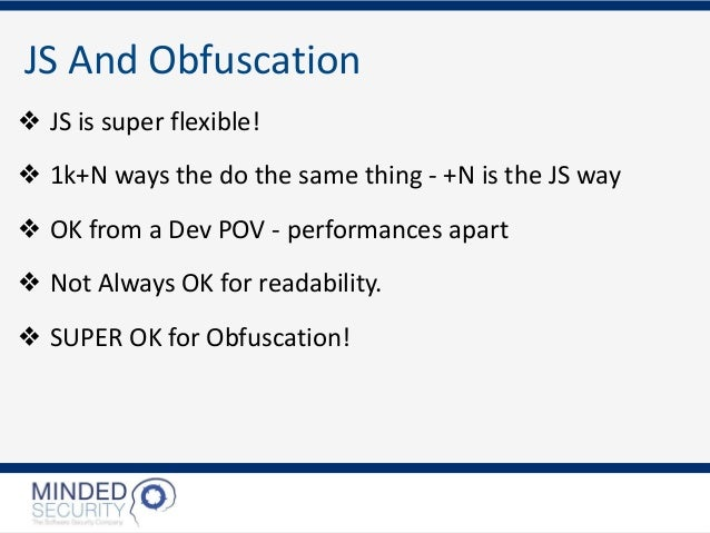 Advanced JS Deobfuscation Slide 2
