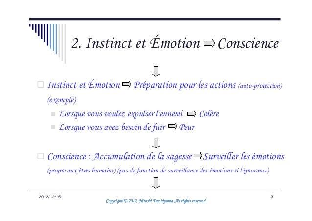 2. Instinct et Émotion                                                    Conscience   Instinct et Émotion                ...