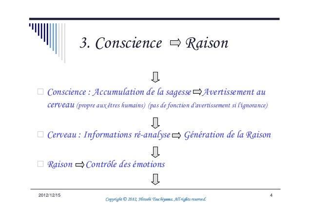 3. Conscience                                          Raison   Conscience : Accumulation de la sagesse Avertissement au  ...