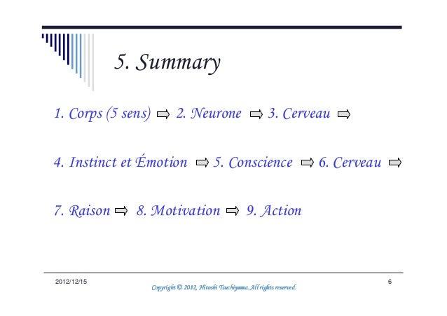 5. Summary1. Corps (5 sens)            2. Neurone                           3. Cerveau4. Instinct et Émotion              ...