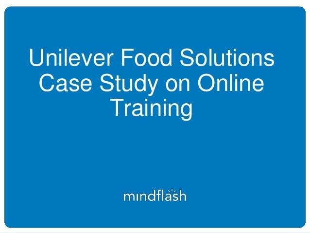 unilever case study solution