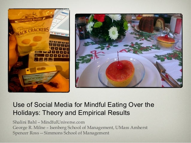 Use of Social Media for Mindful Eating Over the Holidays: Theory and Empirical Results Shalini Bahl – MindfulUniverse.com ...