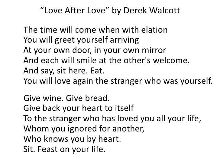 Love After Love Derek Walcott