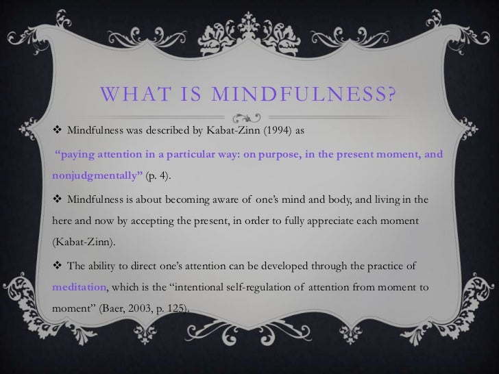 mindfulness based meditation essay