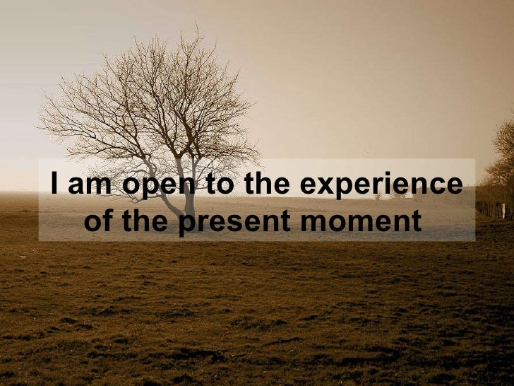 I am open to the experience of the present moment