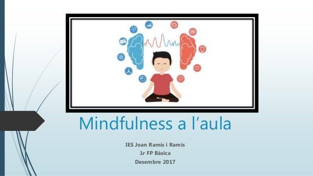 Mindfulness a l'aula IES Joan Ramis i Ramis 1r FP Bàsica Desembre 2017
