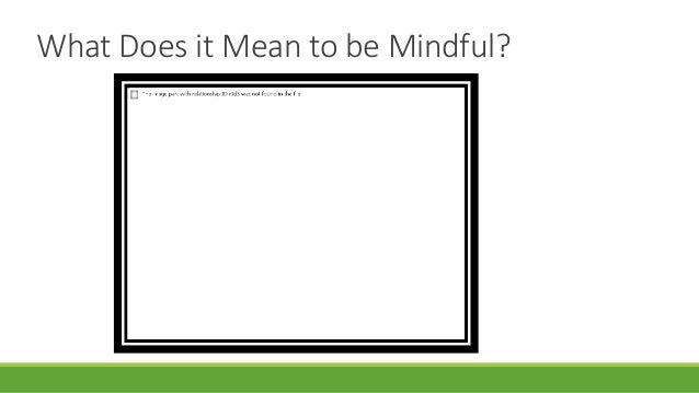 what is maas mindfulness participants information pdf